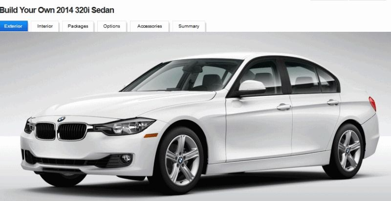 2014 320i BMW - EXTERIOR COLOR Options -- GIF
