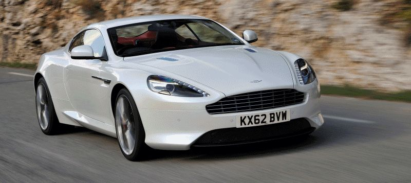 2014 Aston Martin DB9 Animated GIF