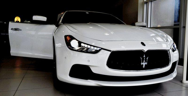 2014 Maserati Ghibli Q4 -- White Exterior GIF