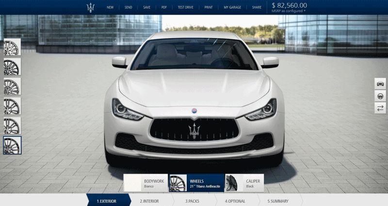 2014 Maserati Ghibli S Q4 - Configurator for Exterior Colors GIF