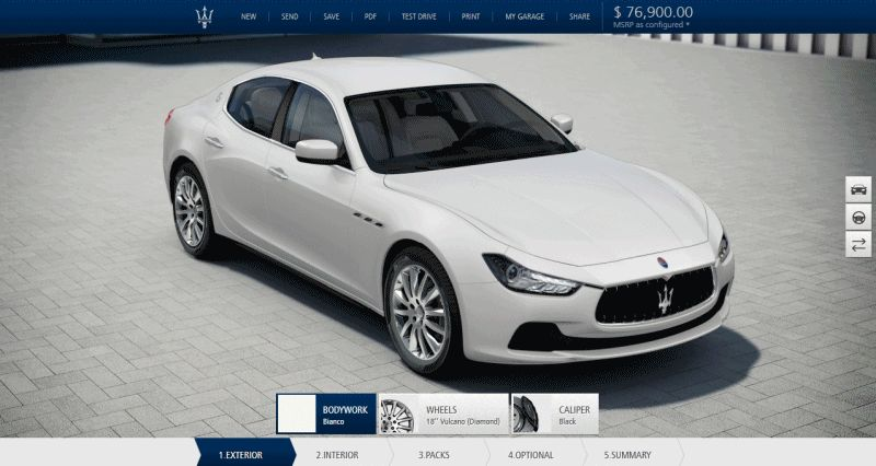 2014 Maserati Ghibli S Q4 - Configurator for Wheels GIF