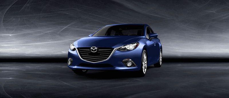 2014 Mazda3 Sedan - Deep Crystal Blue Turntable GIF