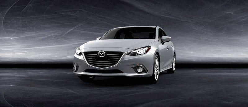 2014 Mazda3 Sedan - Liquid Silver Turntable GIF