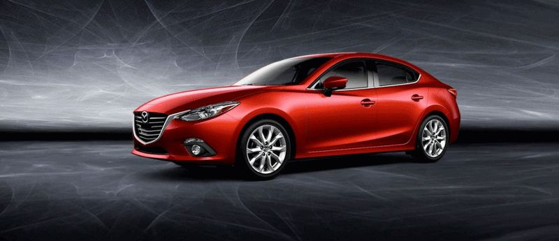 2014 Mazda3 Sedan - Red Turntable GIF