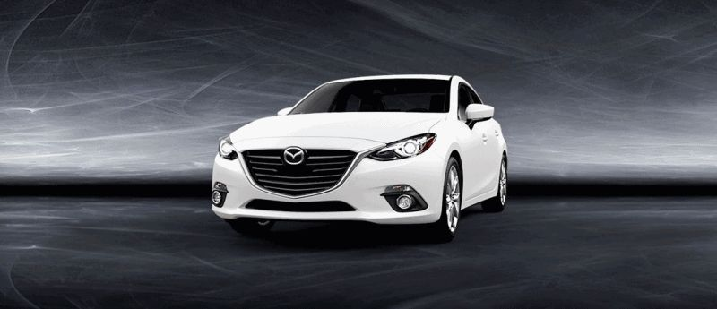 2014 Mazda3 Sedan - White Turntable GIF