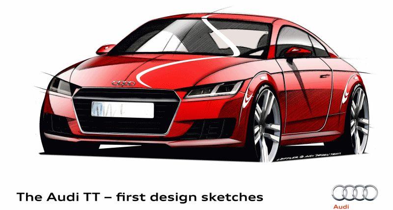 2015 Audi TT Sketches GIF