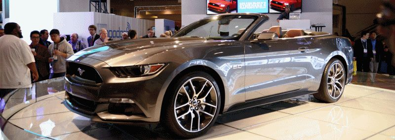 2015 Ford Mustang GT  Grey Convertible GIF