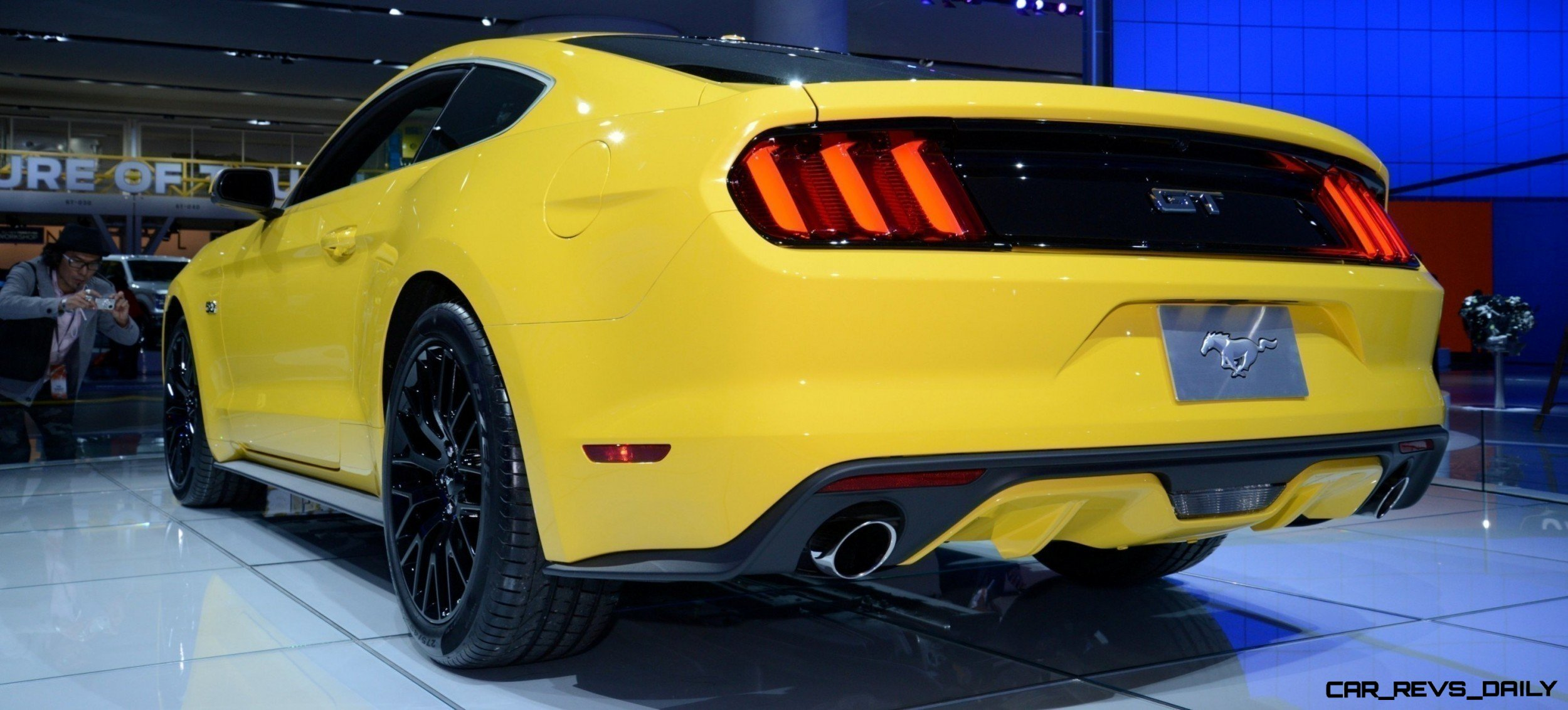 2015 Ford Mustang GT Mean Lean and Ready To Brawl in Latest Real Life Photos Yellow GT 14 photo