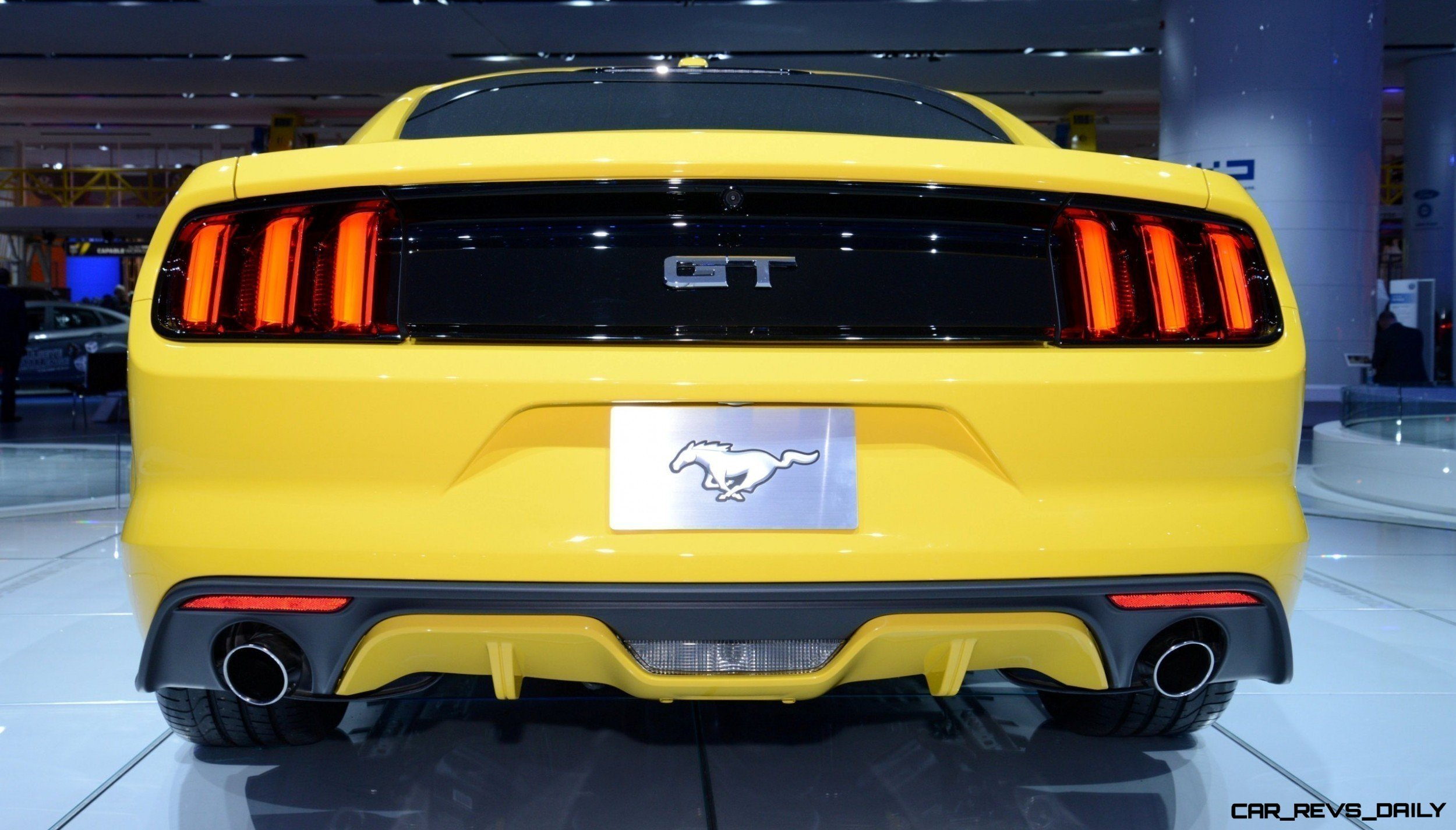 2015 Ford Mustang GT Mean Lean and Ready To Brawl in Latest Real Life Photos Yellow GT 15 photo