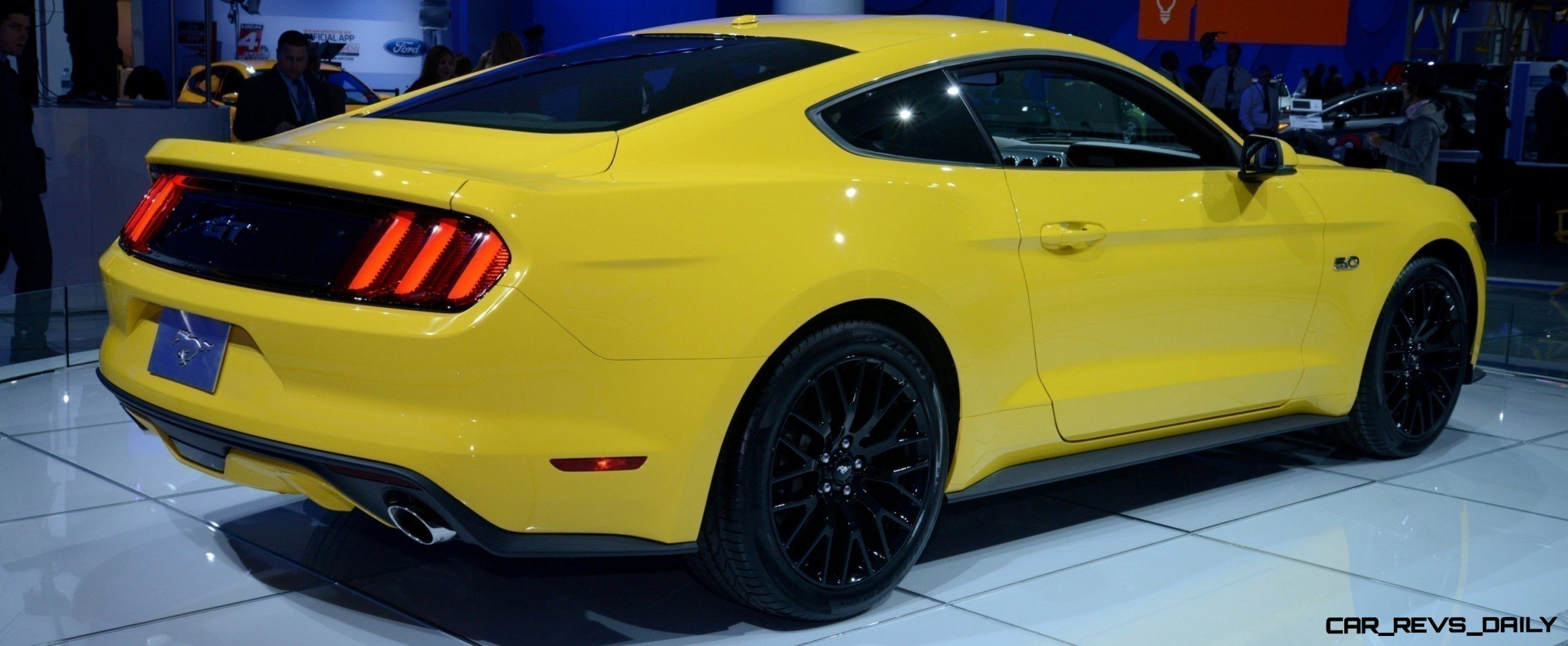 2015 Ford Mustang GT Mean Lean and Ready To Brawl in Latest Real Life Photos Yellow GT 161 photo