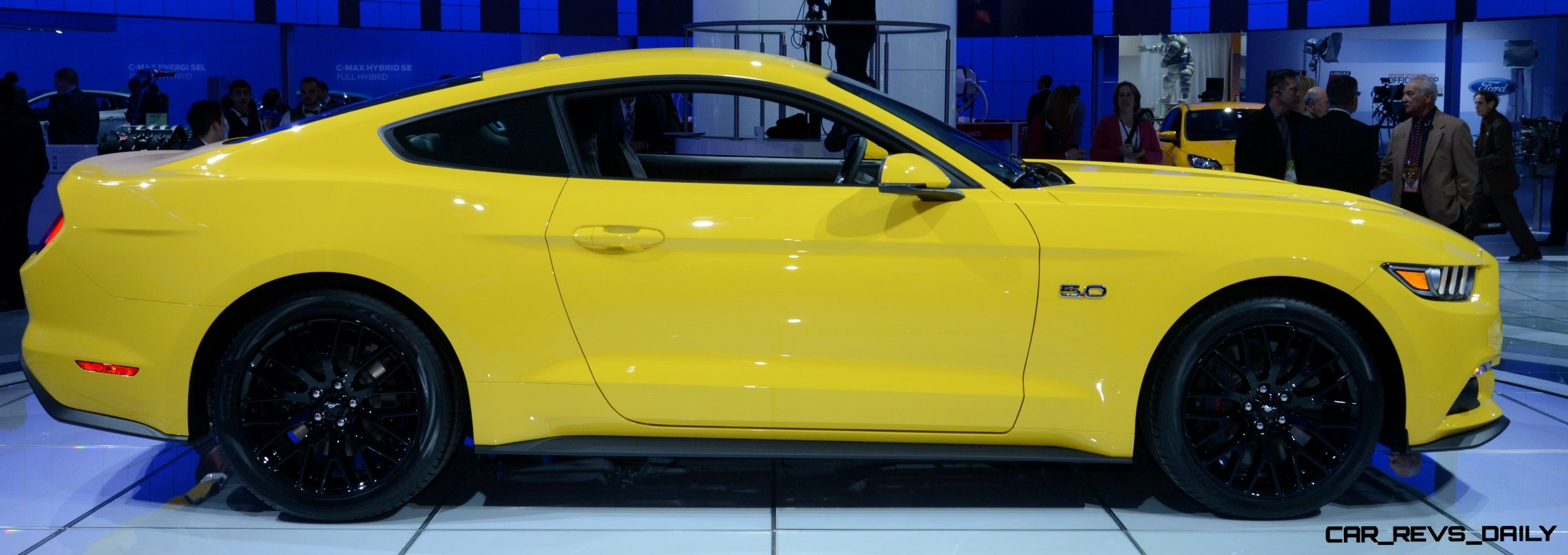 2015 Ford Mustang GT Mean Lean and Ready To Brawl in Latest Real Life Photos Yellow GT 17 photo
