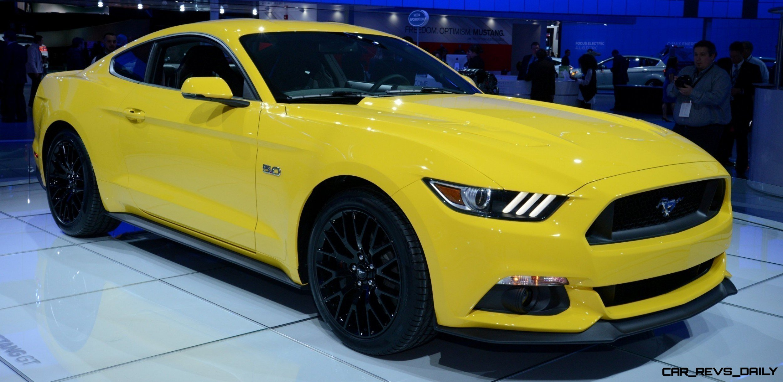 2015 Ford Mustang GT Mean Lean and Ready To Brawl in Latest Real Life Photos Yellow GT 181 photo