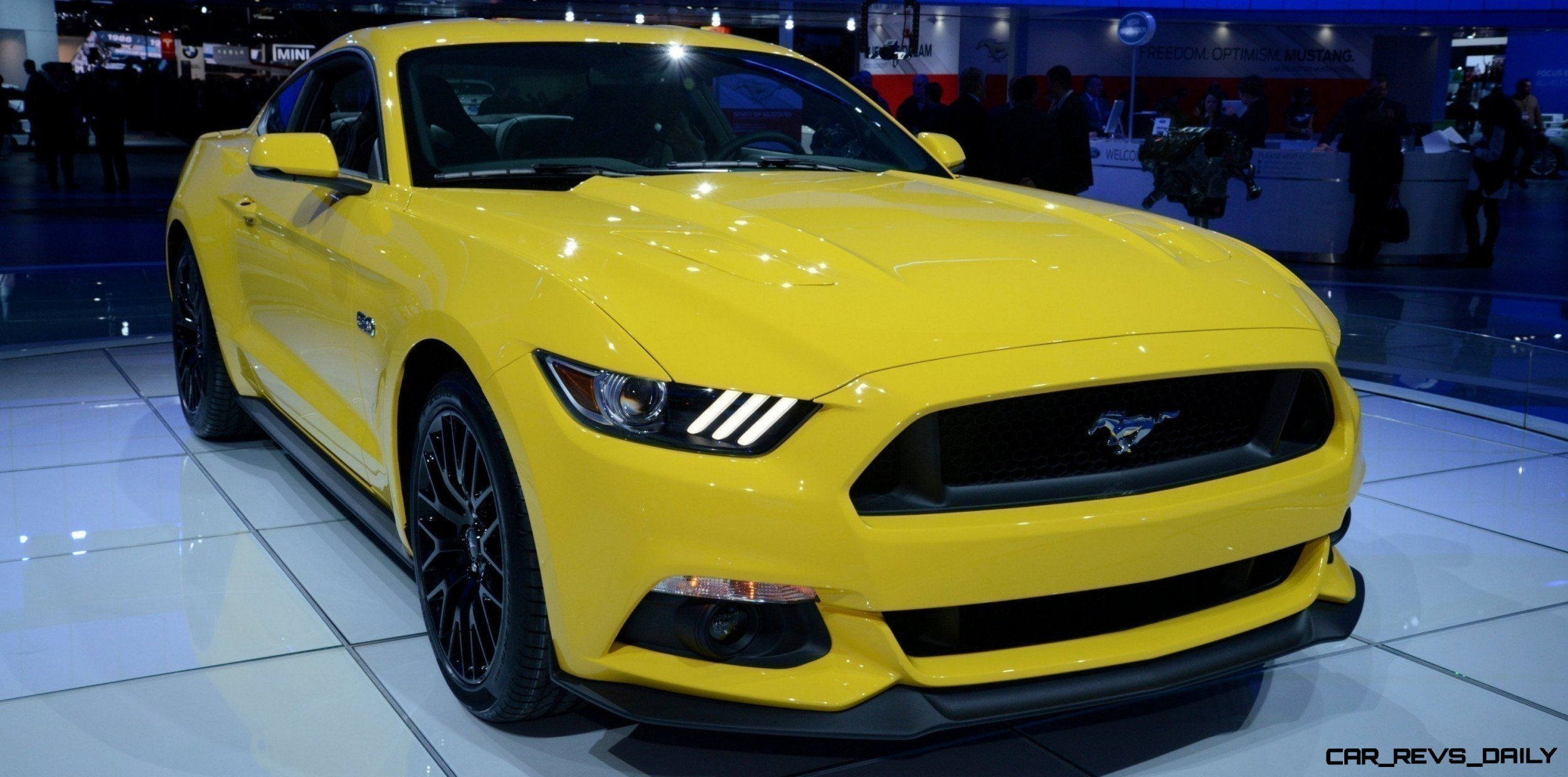2015 Ford Mustang GT Mean Lean and Ready To Brawl in Latest Real Life Photos Yellow GT 19 photo