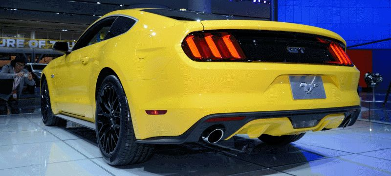 2015 Ford Mustang GT Yellow Turntable GIF