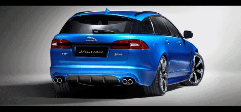2015 Jaguar XFR-S Sportbrake GIF Studi Shots
