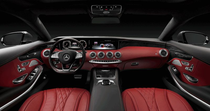 2015 S-Class Coupe INT GIF
