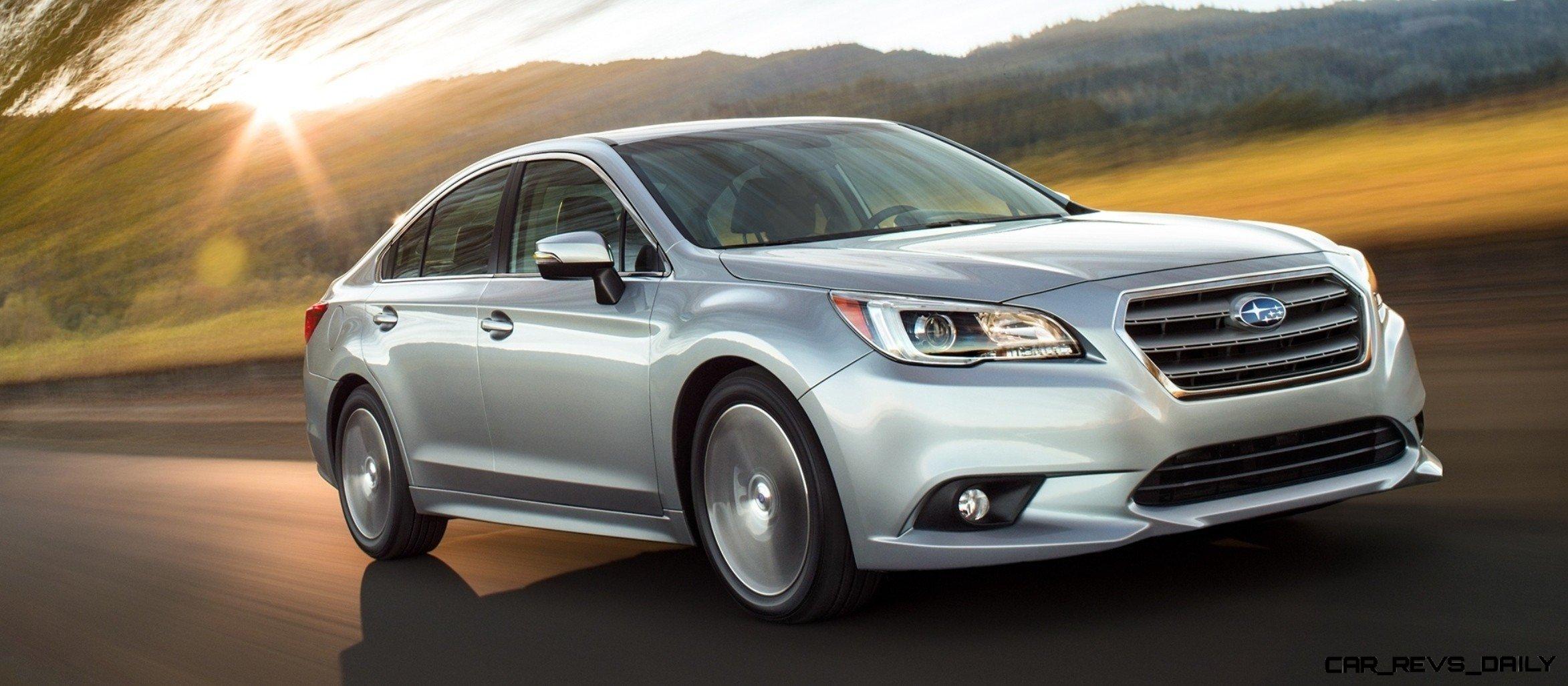 2015 subaru legacy 2.5i and 3.6r sedans -- much quieter -- far