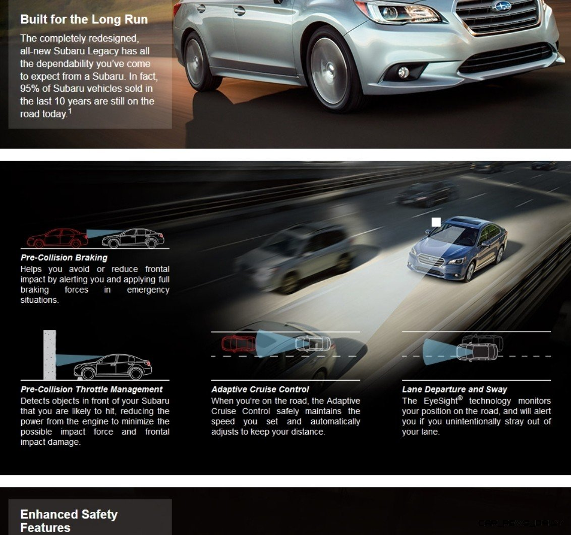2015 Subaru Legacy Sedan -- More Lux and Tech in Cabin -- Finally Some Exterior Style -- Even 36MPG Highway  44