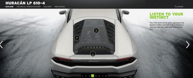 202MPH Lamborghini Huracan -- Official Options EXT GIF
