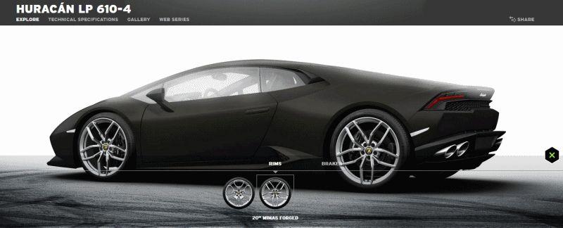 202MPH Lamborghini Huracan -- Official Wheels and Brake Builder GIFs