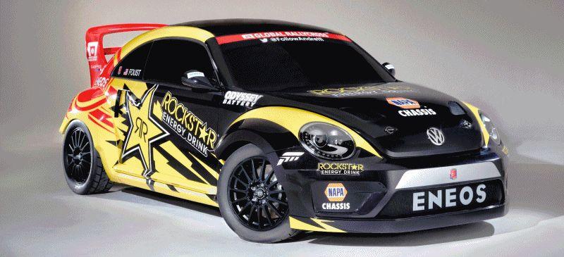 All-New FIA RallyCross Series Looks FUN! Dart, Sonic, Beetle, Fiesta, Fabia, Pug 208GTI and More On-Board GIF
