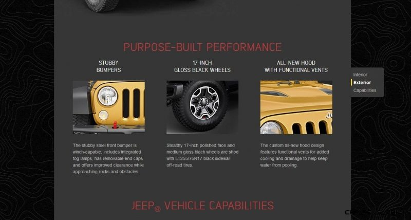 Car-Revs-Daily.com -- Buyers Guide to 2014 JEEP Wrangler Trims, Tops and Doors 21