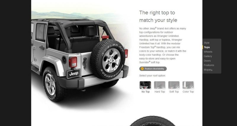 Car-Revs-Daily.com -- Buyers Guide to 2014 JEEP Wrangler Trims, Tops and Doors 61
