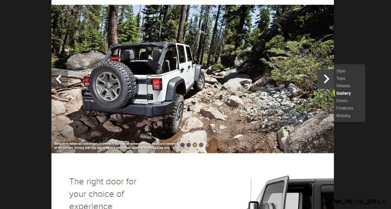 Car-Revs-Daily.com -- Buyers Guide to 2014 JEEP Wrangler Trims, Tops and Doors 71