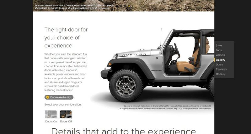 Car-Revs-Daily.com -- Buyers Guide to 2014 JEEP Wrangler Trims, Tops and Doors 74