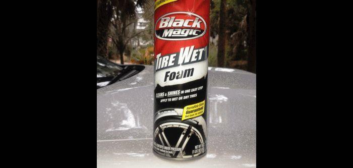 Car-Revs-Daily.com Recommends - Black Magic Tire Foam - Porsche Panamera S 1