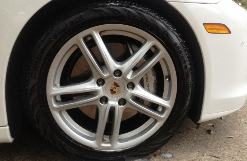 Car-Revs-Daily.com Recommends - Black Magic Tire Foam - Porsche Panamera S 40