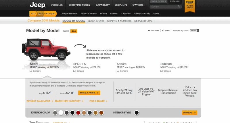 Car-revs-daily.com - animated Wrangler GIF 1 2-door trims
