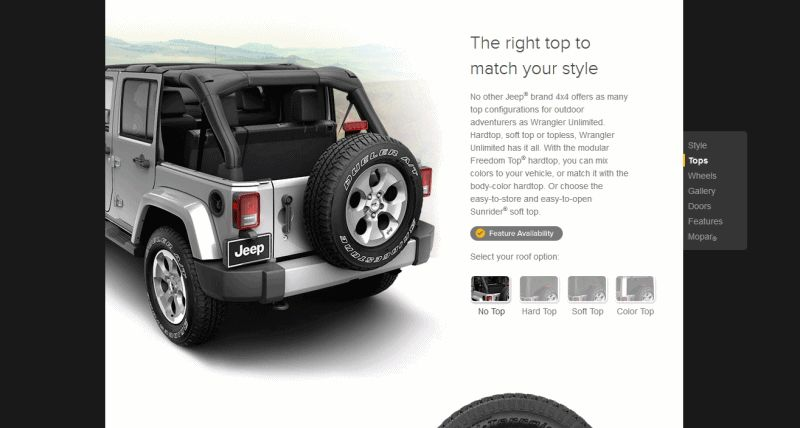 Car-revs-daily.com - animated Wrangler GIF Rooves and Doors 4-door trims