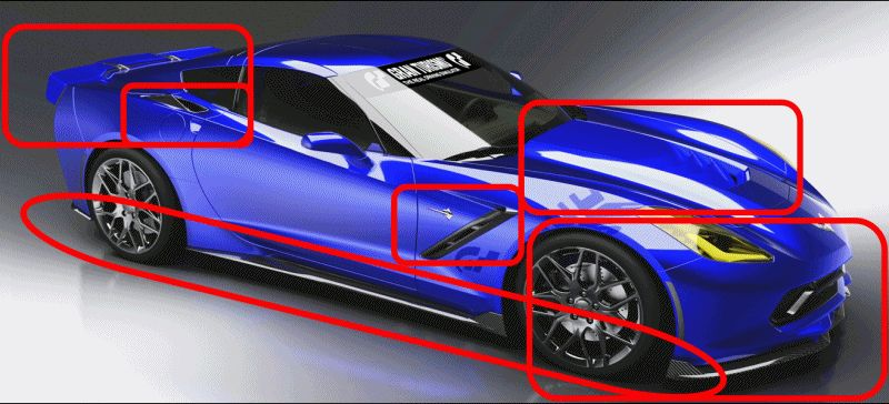 CarRevsDaily.com - Corvette Detroit Z06 and C7R Preview GIF
