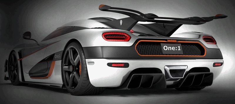 Koenigsegg One1 Adds 240HP for Potential 280MPH Vmax GIF