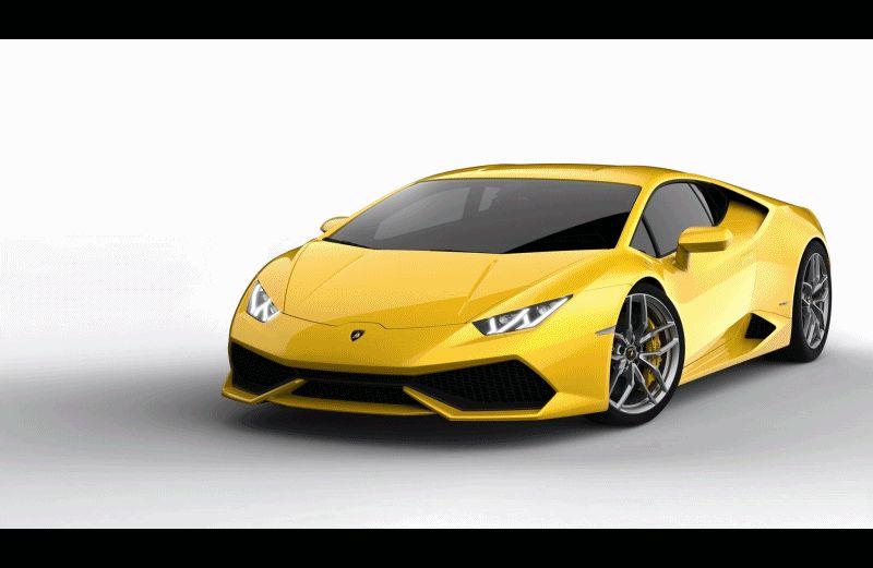 Lamborghini Huracan - Exterior Animation GIF