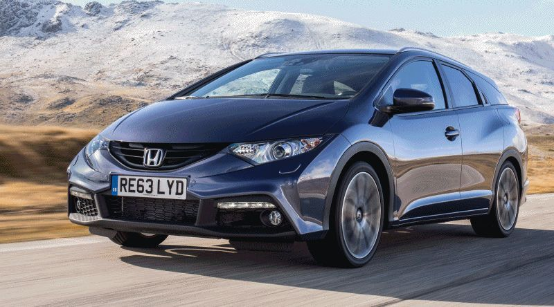 UK Honda Civic Tourer Touts Inner Beauty -- But This Wagon Is Gorgeous vs. Clinically-Depressed U.S. Civic GIF