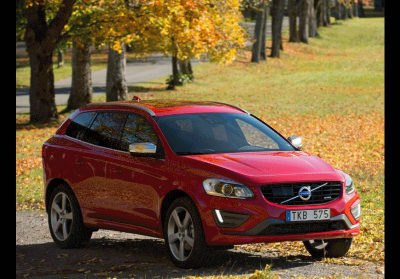 XC60 R-Design Exterior Red ANIMATED GIF CarRevsDaily