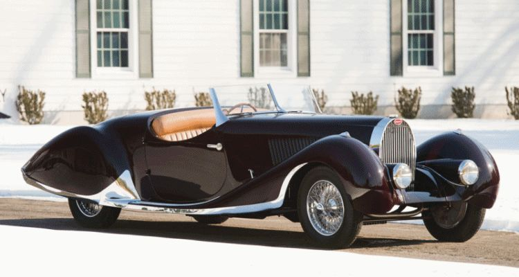 1937 Bugatti Type 57C Roadster -- Leaves Me Cold GIF