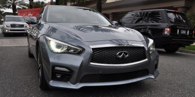 2014 INFINITI Q50S AWD Hybrid -- 1080p HD Road Test Videos & 50 Photos -- AAA+ Refinement and Truly Authentic Steering -- An Excellent BMW 535i Competitor 25