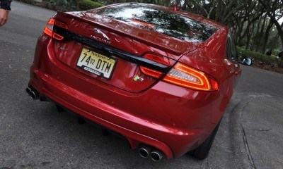 2014 JAGUAR XFR -- Driving Review with Full-Throttle Rolling Sprint + Exhaust Bellow 11
