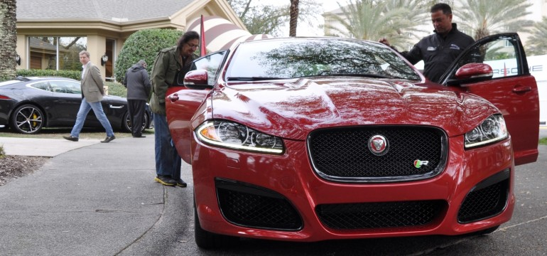 2014 JAGUAR XFR — Driving Review with Full-Throttle Rolling Sprint + Exhaust Bellow