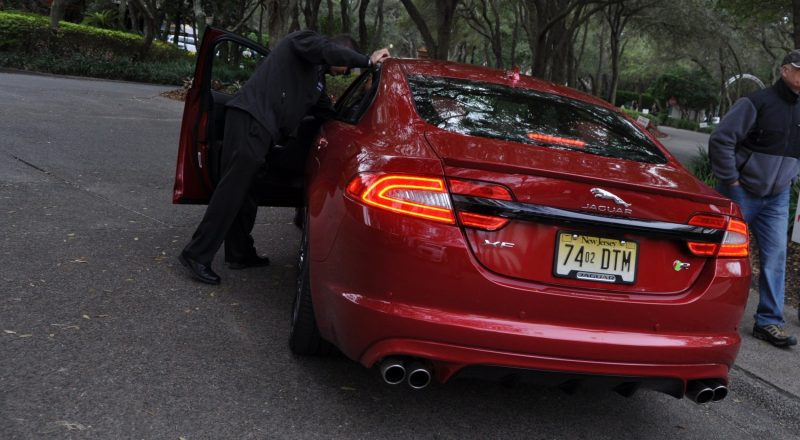 2014 JAGUAR XFR -- Driving Review with Full-Throttle Rolling Sprint + Exhaust Bellow 8