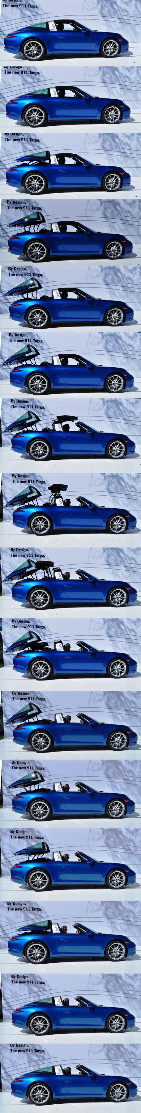2014 Porsche 911 Targa4 -- Animated Roof Sequence + 30 High-Res Photos 28-vert