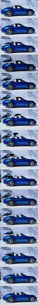 2014 Porsche 911 Targa4 -- Animated Roof Sequence + 30 High-Res Photos 28-vert
