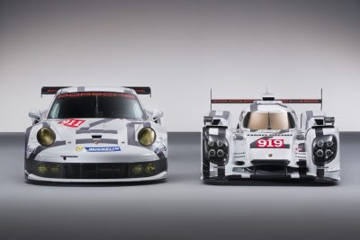 2014 Porsche Motorsport Worldwide- 919 Hybrid-911 RSR- Head-On