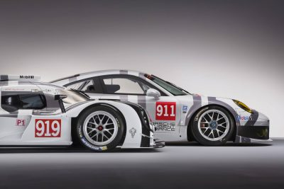 2014 Porsche Motorsport Worldwide- 919 Hybrid-911 RSR Nose Profile