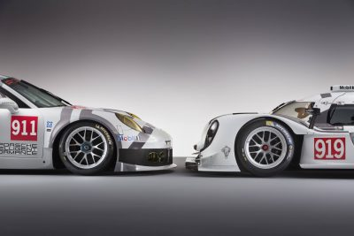 2014 Porsche Motorsport Worldwide- 919 Hybrid-911 RSR- Nose-to-Nose