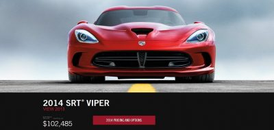 2014 SRT Viper Brings Hot New Styles and Three New Colors1