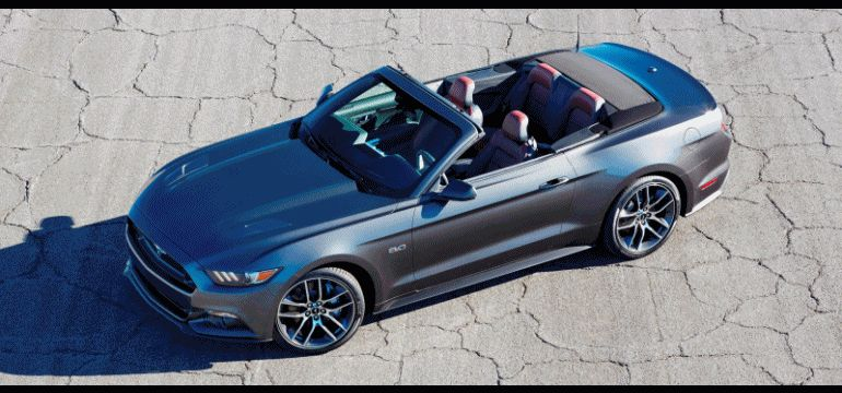 2015 Ford Mustang GT COnvertible GIF